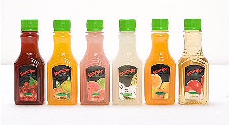 Sunripe ready-to-drink juice in convenient 200 ml bottles