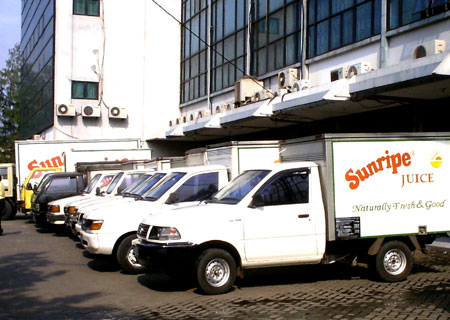 A quick glance at some of our Sunripe juice distribution vehicles
